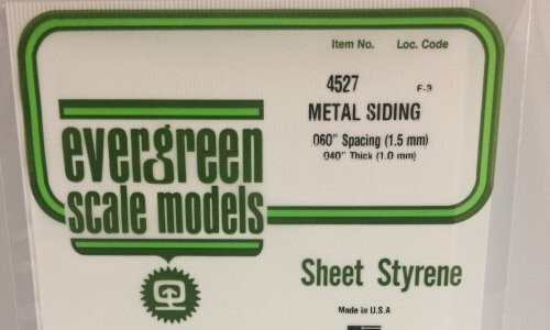 Evergreen Scale Models Corrugated .060 Spacing EVG4527